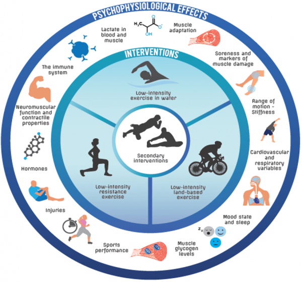 An infographic of active cooldown or recovery options.