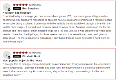 Positive reviews of the Hydragun