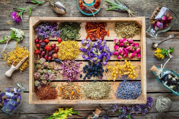 Different types of essential oils which can be added to body massage oils (otherwise known as carrier oils).